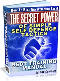 Ebook cover: THE SECRET POWER OF SIMPLE SELF DEFENCE TACTICS