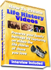 Ebook cover: How To Create Life History Videos
