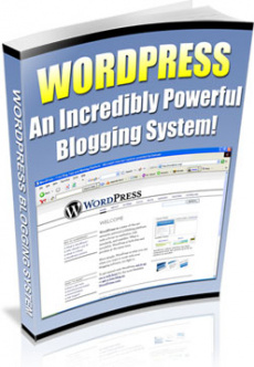 Ebook cover: Wordpress: An Incredibly Powerful Blogging system