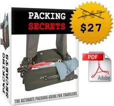 Ebook cover: Packing Secrets The Ultimate Packing Guide For Travelers