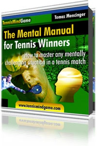 Ebook cover: The Mental Manual for Tennis Winners How to finally get the edge in the most difficult tennis matches