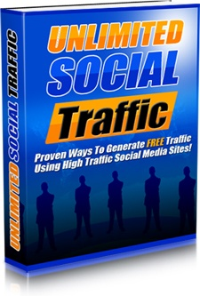 Ebook cover: Unlimited Social Traffic