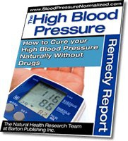 Ebook cover: The High Blood Pressure Remedy Report