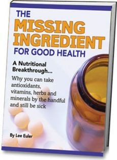 Ebook cover: The Missing Ingredient For Good Health