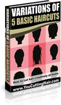 Ebook cover: VARIATIONS OF 5 BASIC HAIRCUTS