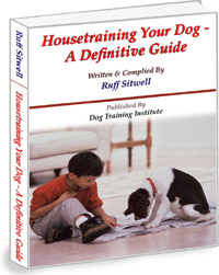 Ebook cover: Housetraining Your Dog A Definitive Guide