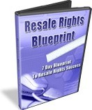 Ebook cover: Resale Rights Blueprint