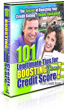 Ebook cover: 101 Powerful Tips for Legally Improving Your Credit Score
