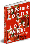 Ebook cover: 36 Potent Foods to Lose Weight and Live Healthy