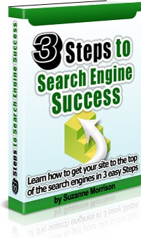 Ebook cover: 3 Steps to Search Engine Success