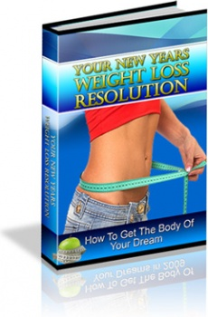 Ebook cover: Your New Years Weight Loss Resolution