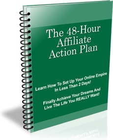 Ebook cover: The 48 Hour Affiliate Action Plan