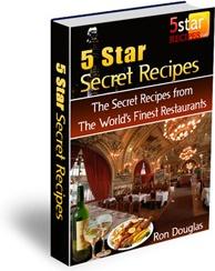 Ebook cover: 5 Star Secret Recipes