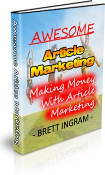 Ebook cover: Awesome Article Marketing