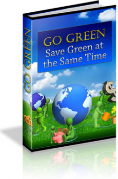 Ebook cover: Go Green - Save Green