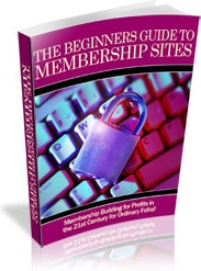Ebook cover: The Beginner's Guide To Membership Sites