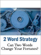 Ebook cover: 2 Word Strategy Report