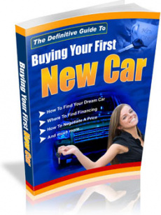 Ebook cover: Buying Your First New Car
