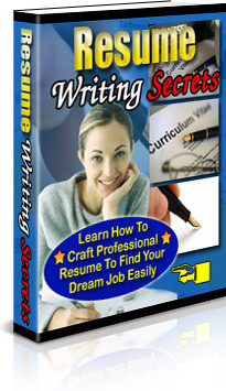 Ebook cover: Resume Writing Secrets
