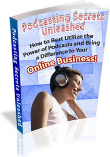 Ebook cover: Podcasting Secrets Unleashed