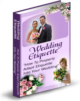 Ebook cover: Wedding Etiquettes 101