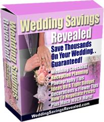 Ebook cover: Wedding Savings Revealed