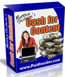 Ebook cover: Cash For Content!