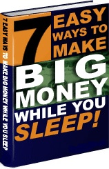 Ebook cover: 7 Easy Ways To Make Big Money While You Sleep!