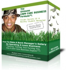 Ebook cover: The Ultimate Lawn Care Business Formula
