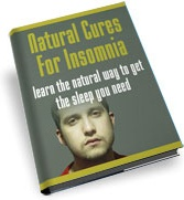 Ebook cover: Natural Cures For Insomnia