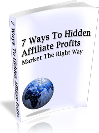 Ebook cover: 7 Ways To Hidden Affiliate Profits