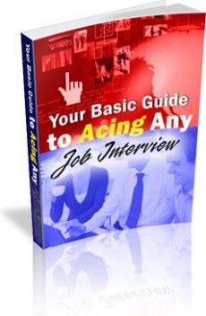 Ebook cover: Your Basic Guide to Acing ANY Job Interview!