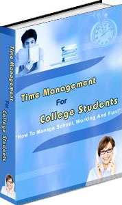 Ebook cover: Time Management For College Students