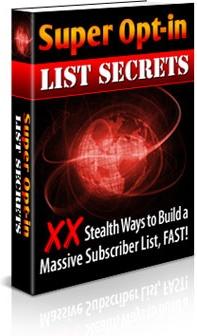 Ebook cover: Super Opt-in List Secrets