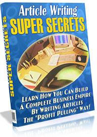 Ebook cover: Article Writing Super Secrets