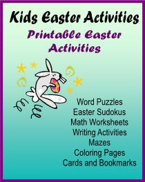 Ebook cover: Kids Easter Activities Printable Easter Activities