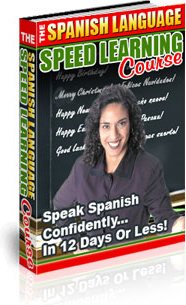 Ebook cover: The Spanish Language Speed Learning Course