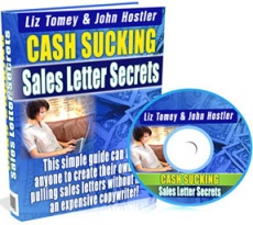 Ebook cover: Cash Sucking Sales Letter Secrets