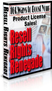 Ebook cover: Resell Rights Renagade