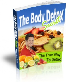 Ebook cover: The Body Detox Secret