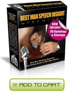Ebook cover: Best Man Speech Insight