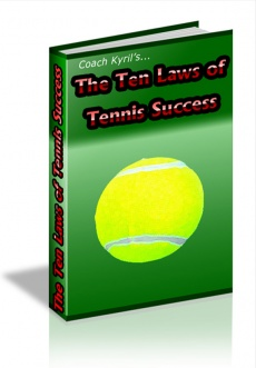 Ebook cover: The Ten Laws Of tennis Success