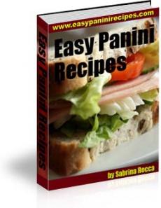 Ebook cover: Easy Panini Recipes