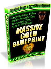 Ebook cover: Massive Warcraft Gold Blueprint