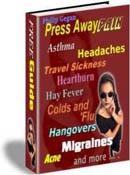 Ebook cover: PRESS AWAY PAIN