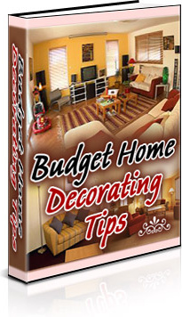 Ebook cover: Budget Home Decorating Tips