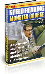 Ebook cover: The Speed Reading Monster Course
