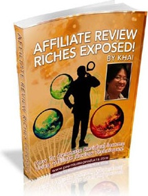 Ebook cover: Affiliate Review Riches Exposed