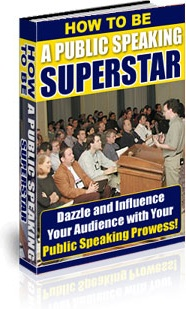 Ebook cover: How to be a Public Speaking Superstar