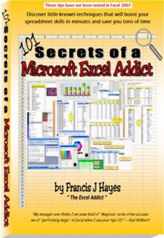 Ebook cover: 101 Secrets of a Microsoft Excel Addict